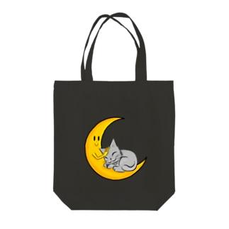 おやすみネコ Tote bags