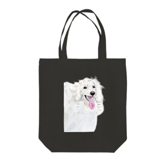 white poodle トートバッグ