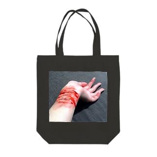リストカット Tote bags