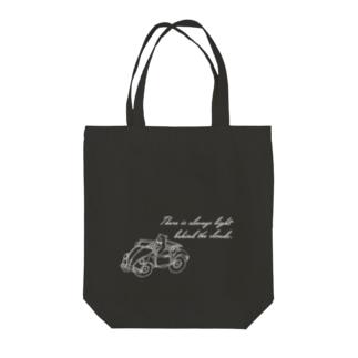 オデカケクマさん「晴れの日ドライブ」(モノトーン)  Tote bags