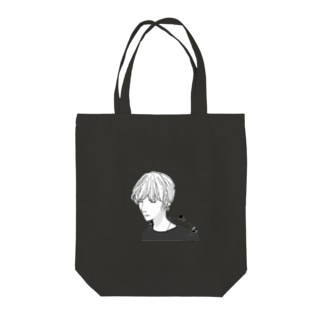 宇宙(ソラ)と少年 Tote bags