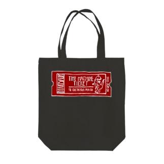 恐竜時代タイムマシンチケット〜白亜紀行き〜 RED Tote bags