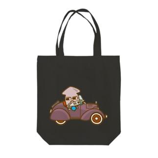 イカメシくんのオープンクラシックカー Tote bags