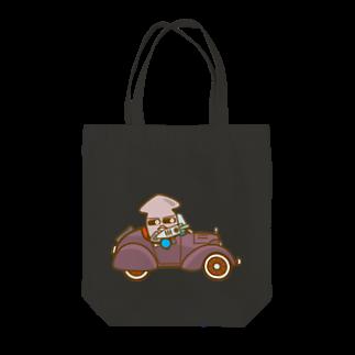 コメビツくんのイカメシくんのオープンクラシックカー Tote bags