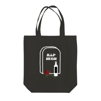 R.I.P HUGH WHITE Tote bags