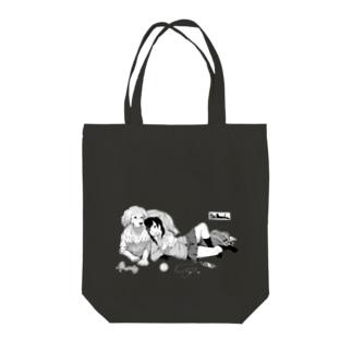 寝っころGIRL vol.5『谷宮いづ美』&愛犬『ダイス』 Tote bags