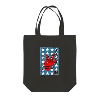数珠ROCK Tote bags