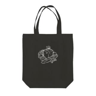 パンまみれパンくん Black Tote bags