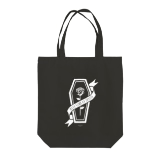 【MOON SIDE】Rose Coffin  Ver.2 #White Tote bags