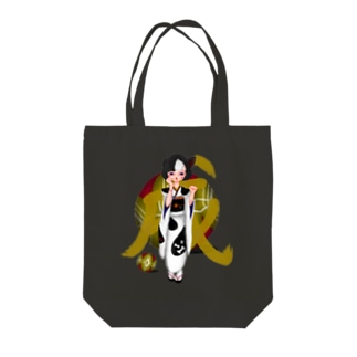 大和撫子 - Japanese French Bulldog Girl Tote bags