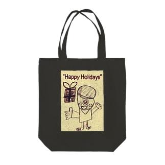 おばけ君のプレゼント Tote bags