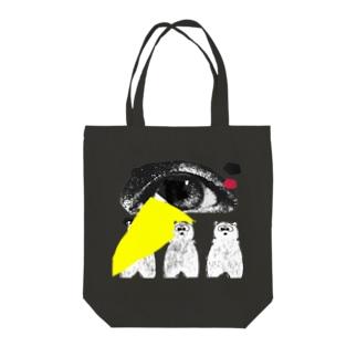アイくまトリオ Tote bags