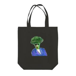 ハードボイルドブロッコリー Tote bags
