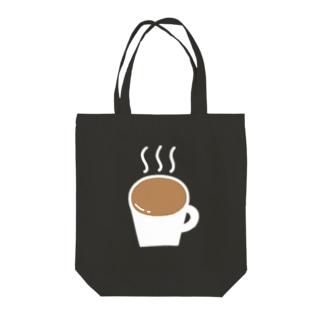なみなみカフェオレ(白) Tote bags