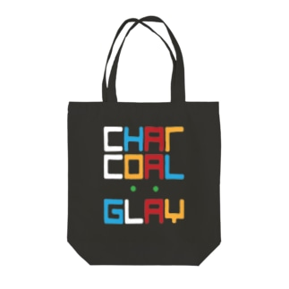 Charcoal:Gray バンドロゴ Tote bags