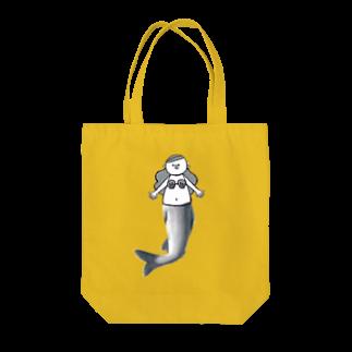 MOGUMO SHOPの人魚のアユちゃん Tote bags