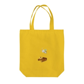 ROBOBO 福ちゃんロボ ピーナッツセンサー作動中 Tote bags