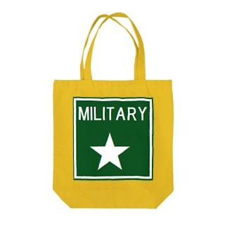 ミリタリー グッズ Tote bags