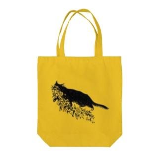 花咥え猫 トートバッグ
