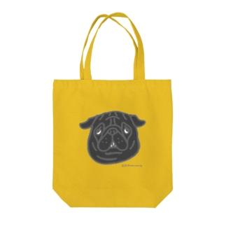 黒パグちゃん Tote bags