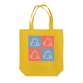 ねこ_ふとっちょ Tote bags