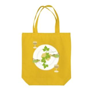 クツワムシの晩餐 Tote bags