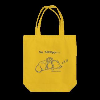 アトリエ・シシのSo Sleepy 眠たいワンコ Tote bags