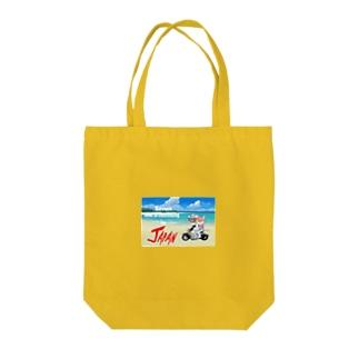 かわいいにゃんことワンコの絵のお店のにゃんこライダース Tote bags