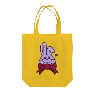 Cherry-eyes rabbit Tote bags