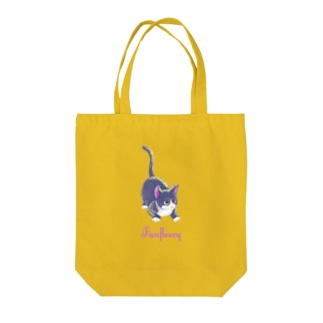 meow meow(black cat) Tote bags