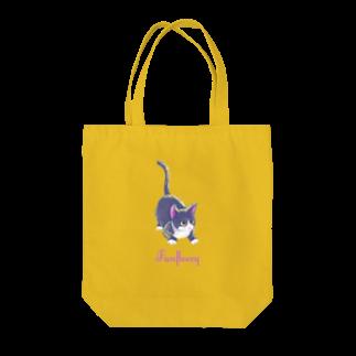 Fanfleecyのmeow meow(black cat) Tote bags