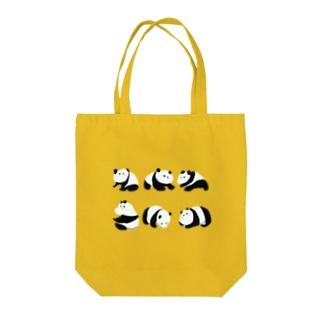 ゆるいパンダ Tote bags