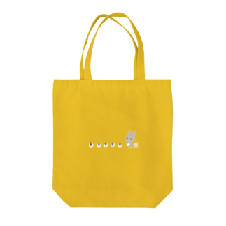 ひらりーー のひらりーー のグレーうさぎシリーズ Tote bags