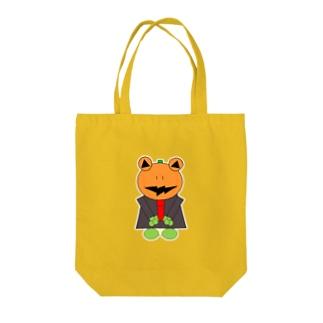ハロウィン パンプキンパパ  Tote bags