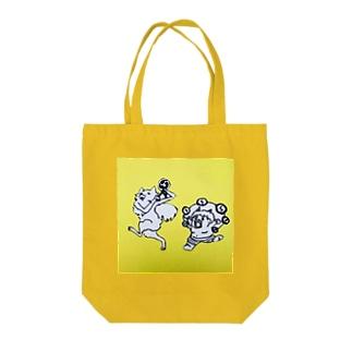 キツネと鬼 Tote bags