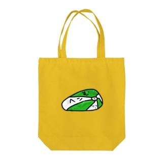 ヘコむ Tote bags