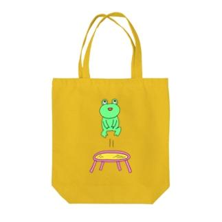 ぴょんぴょんカエル Tote bags