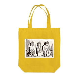 体育すわり Tote bags