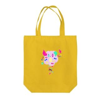 Loveチェック Tote bags