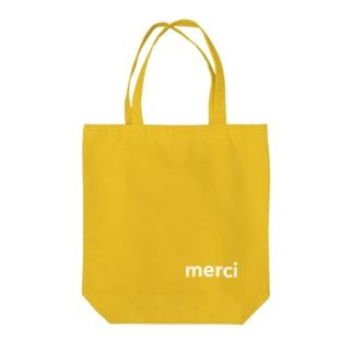 merci standard white logo tote bag Tote bags
