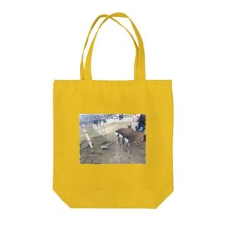 奈良の鹿しり Tote bags