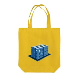 星の落ちるマンション Tote bags