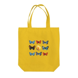Rose in Butterflies Tote bags
