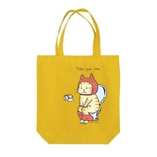 トイレねこ・オレンジ Tote bags