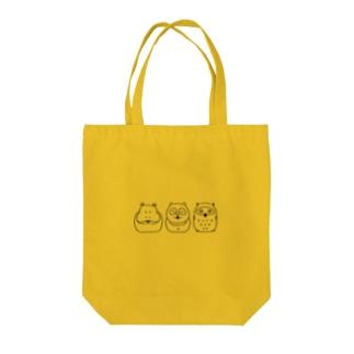 Hipporaccowl(ヒポラカウル)黒 Tote bags