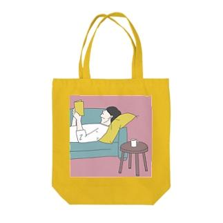 紅茶とあなたの匂い(ピンク) Tote bags