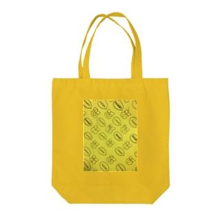 総柄本田黄色 Tote bags