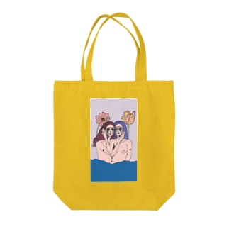 Crying Twins Tote bags