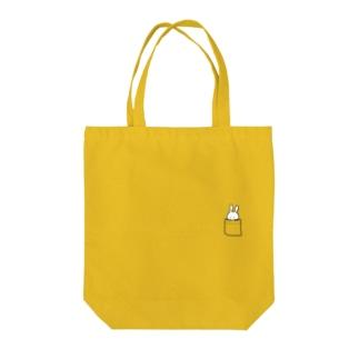 うさinポッケ Tote bags