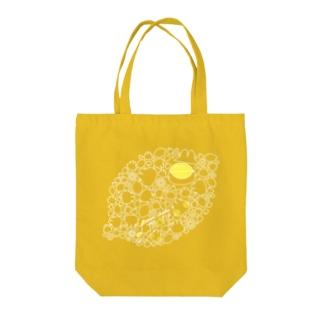 リモーネちゃんレモンいっぱい(ホワイトライン) Tote bags